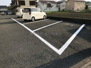 日立市 駐車場ライン引き